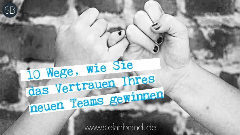 www.stefanbrandt.de - Vertrauen des Teams gewinnen